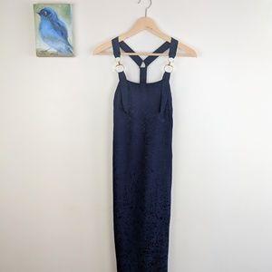 186d32ef05 Topshop Dresses | Navy Blue Maxi Dress T Strap Back | Poshmark